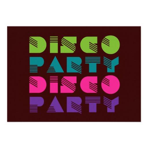 Fiesta de disco de los a os 70 danza invitaci n 12 7 x - Fiesta disco anos 70 ...