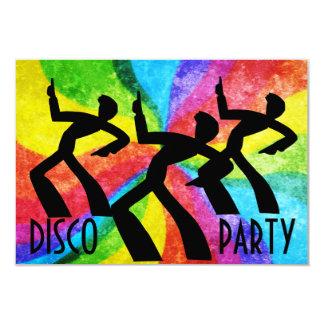 Fiesta de disco - remolinos de la gente y del arco invitación 8,9 x 12,7 cm