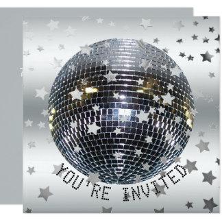 Fiesta de disco retro 70s de la fiesta de invitación 13,3 cm x 13,3cm