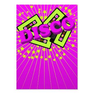 Fiesta de disco retro invitación 11,4 x 15,8 cm