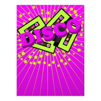 Fiesta de disco retro invitación 16,5 x 22,2 cm