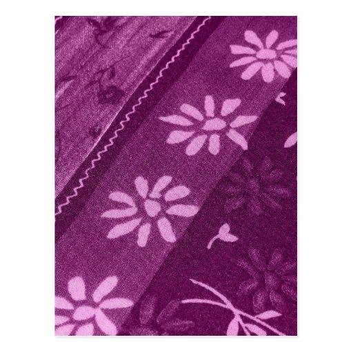 Fiesta de ducha rosada púrpura de las vides de los tarjetas postales