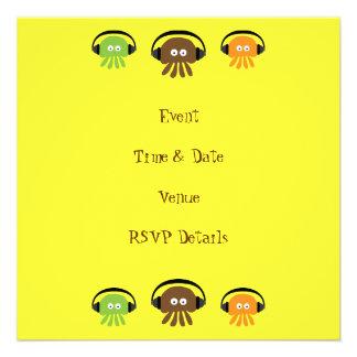 Fiesta de encargo de DJ del amarillo retro enrroll Anuncio