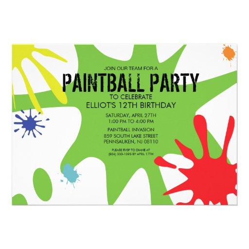 Fiesta de encargo partido de Splat Paintball del v Comunicado Personal