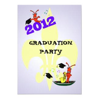 Fiesta de graduación 2012 de la flor de lis de los invitación 12,7 x 17,8 cm