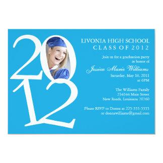 Fiesta de graduación 2012 invitación 12,7 x 17,8 cm
