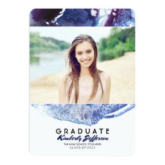 Fiesta de graduación de la foto de la acuarela de invitación 12,7 x 17,8 cm