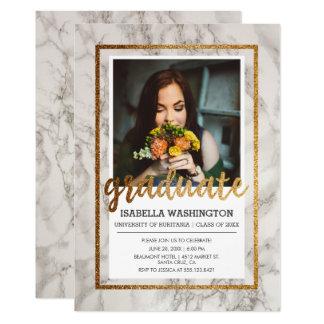Fiesta de graduación de la foto de la tipografía invitación 12,7 x 17,8 cm