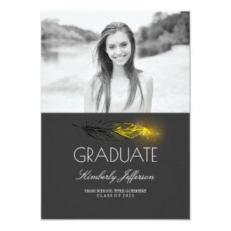 Fiesta de graduación de la foto del brillo de la invitación 12,7 x 17,8 cm