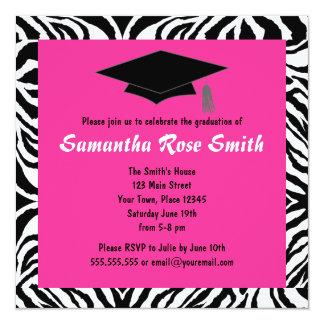 Fiesta de graduación de las rosas fuertes del invitación 13,3 cm x 13,3cm