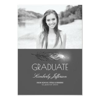 Fiesta de graduación de plata de la foto del invitación 12,7 x 17,8 cm