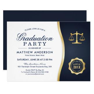 Fiesta de graduación del colegio de abogados de la invitación 12,7 x 17,8 cm