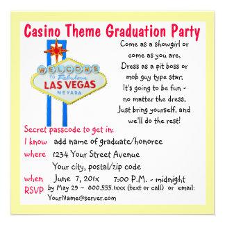Fiesta de graduación del estilo de Vegas del tema Anuncios Personalizados