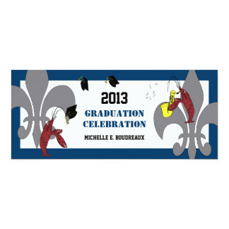Fiesta de graduación del jazz de los cangrejos de invitación 10,1 x 23,5 cm