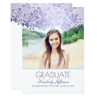 Fiesta de graduación elegante de la foto de la invitación 12,7 x 17,8 cm