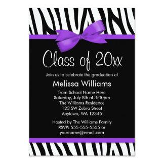 Fiesta de graduación impresa púrpura del arco de invitación 12,7 x 17,8 cm