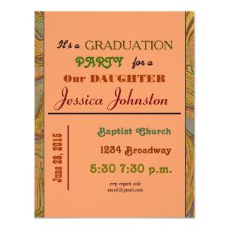 fiesta de graduación invitación 10,8 x 13,9 cm