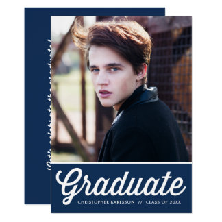 Fiesta de graduación retra de la foto de la invitación 12,7 x 17,8 cm