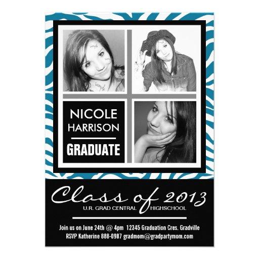 Fiesta de graduación salvaje de la foto de la cebr invitación