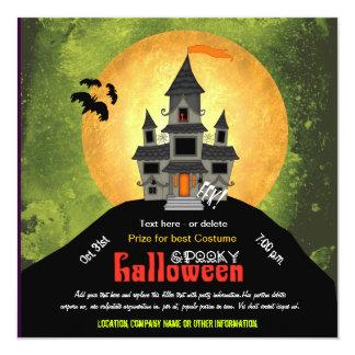 Fiesta de Halloween de la casa encantada Invitación 13,3 Cm X 13,3cm