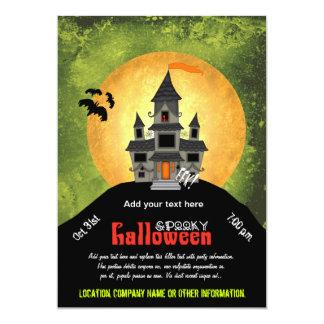 Fiesta de Halloween de la casa encantada Invitación 12,7 X 17,8 Cm