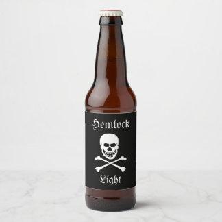 Fiesta de Halloween de la luz del cráneo y del Etiqueta Para Botella De Cerveza