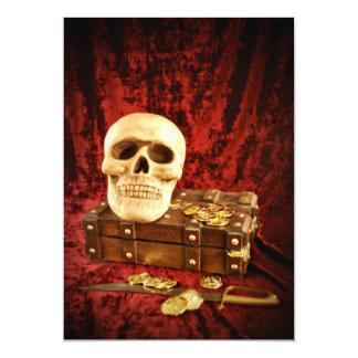 Fiesta de Halloween del tesoro del pirata Invitación 12,7 X 17,8 Cm