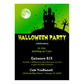 Fiesta de Halloween Tarjetas De Negocios