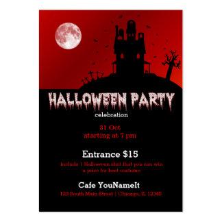 Fiesta de Halloween Plantillas De Tarjetas De Visita
