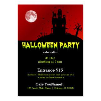 Fiesta de Halloween Tarjetas De Visita Grandes