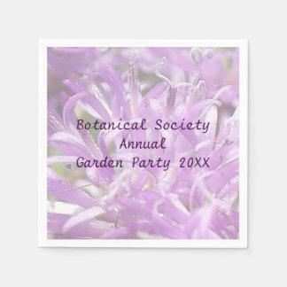 Fiesta de jardín bonita de las flores salvajes de servilletas desechables