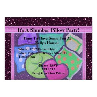 Fiesta de la almohada del sueño invitación 12,7 x 17,8 cm