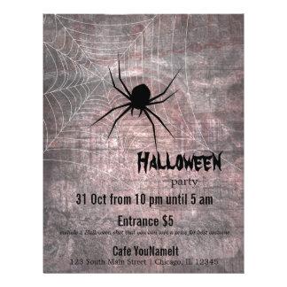 Fiesta de la araña de Halloween Folleto 21,6 X 28 Cm