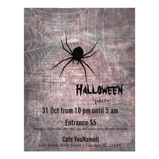 Fiesta de la araña de Halloween Flyer Personalizado