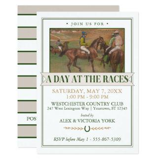 Fiesta de la carrera de caballos de Derby el | Invitación 12,7 X 17,8 Cm
