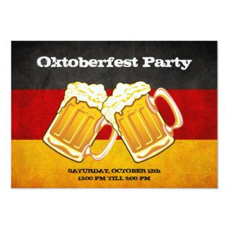 Fiesta de la cerveza de Oktoberfest - bandera de Invitación 12,7 X 17,8 Cm