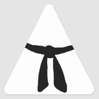 Fiesta de la correa negra pegatina triangular