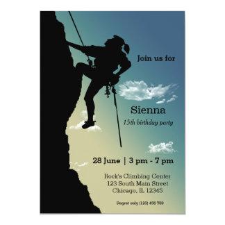 Fiesta de la escalada invitación 12,7 x 17,8 cm