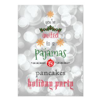 Fiesta de la familia de los pijamas y de las invitación 12,7 x 17,8 cm