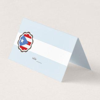 Fiesta de la flor, bandera puertorriqueña tarjeta de asiento