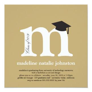 Fiesta de la foto de la graduación del graduado invitación 13,3 cm x 13,3cm