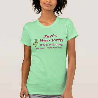 Fiesta de la gallina de Jen - gallinas Camisetas