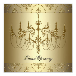 Fiesta de la gran inauguración del negocio invitación 13,3 cm x 13,3cm