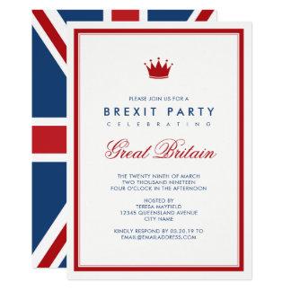 Fiesta de la independencia de Brexit Union Jack Invitación 12,7 X 17,8 Cm