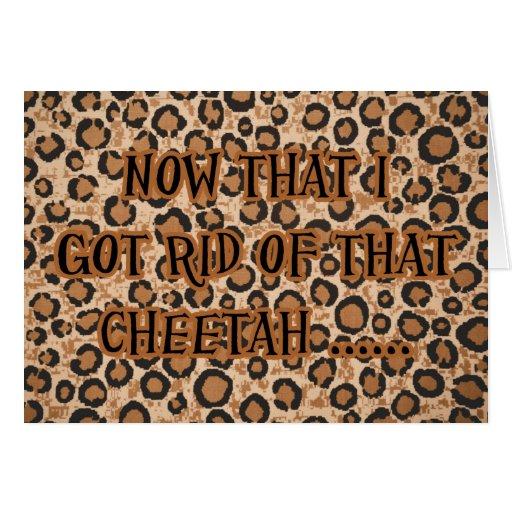 Fiesta de la invitación del guepardo del tramposo  tarjetón