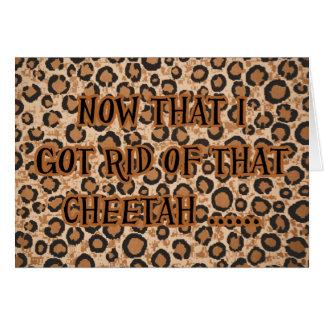 Fiesta de la invitación del guepardo del tramposo  tarjeta de felicitación