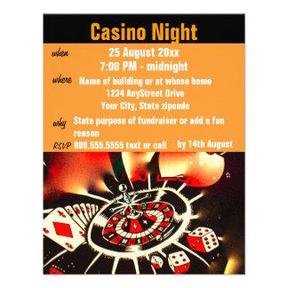Fiesta de la noche del póker del casino comunicado personal
