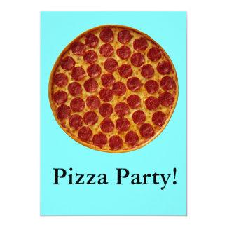 Fiesta de la pizza anuncio personalizado