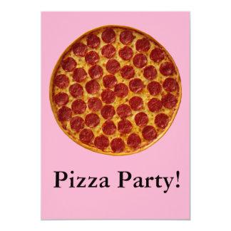Fiesta de la pizza invitación personalizada