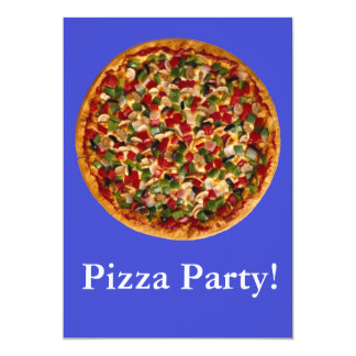 Fiesta de la pizza invitaciones personalizada